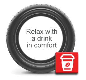 Relax with a drink in comfort